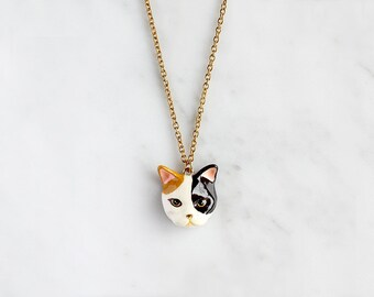 Calico Cat Necklace
