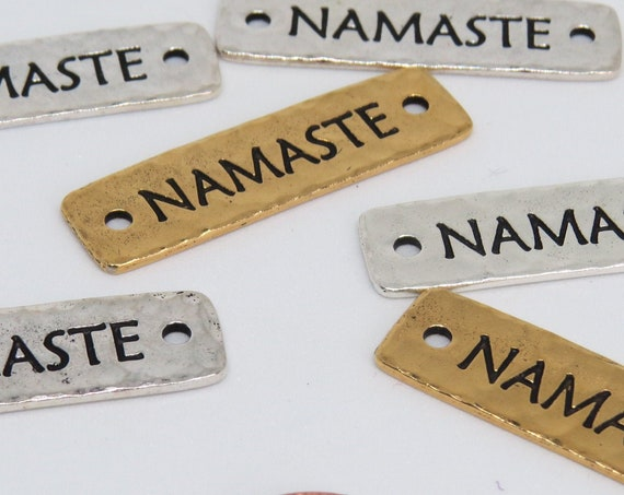 NAMASTE Gold tone and Silver tone finding