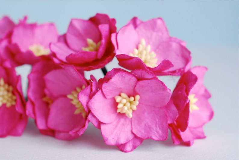 Paper Flower 25 Pieces Asian Lotus Flowers Size35cm Pink Etsy