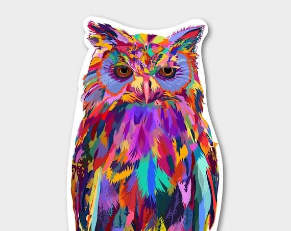 Illustrated Owl Sticker