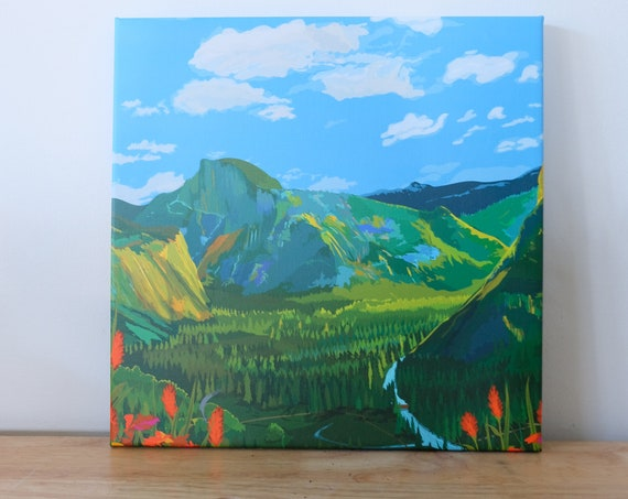 Illustrated landscape canvas prints