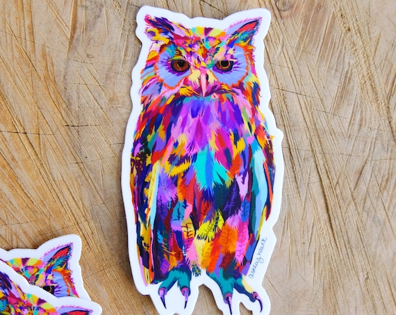 Illustrated Owl Sticker