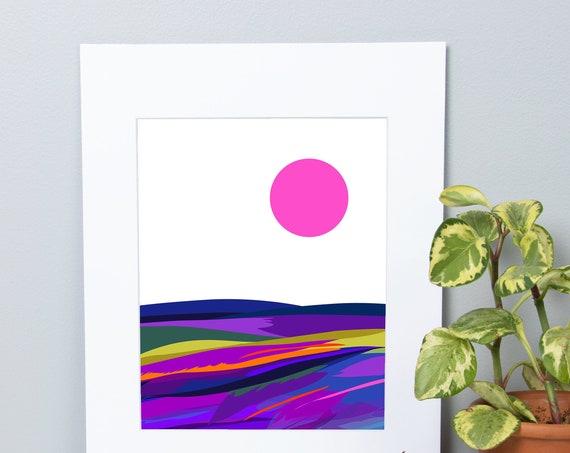 Abstract Landscape, Digital Illustration, Print