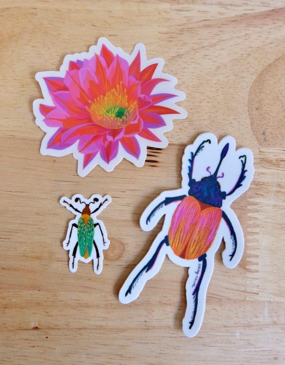 Sticker Collection, Multipack, Beetles, Desert Flower