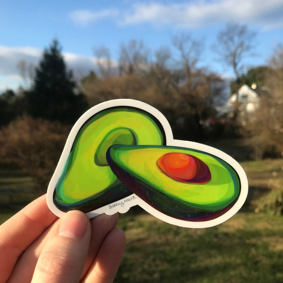 Illustrated Avocado Sticker