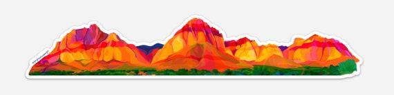Panoramic Mountain Sticker