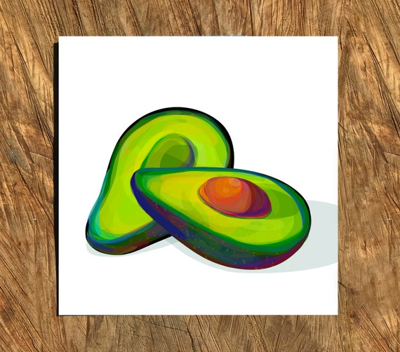 Acrylic, Square, Digital Watercolor Illustration, Print