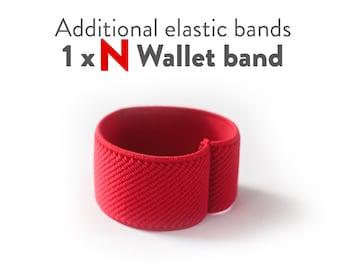Additional elastic band for N Wallet (wood, aluminum, carbon fiber, plexi), N wallet, Elephant Wallet