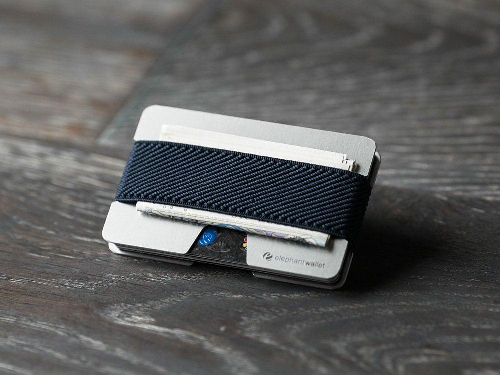 Aluminum wallet, credit card wallet, men and women wallet, thin wallet, modern wallet, N wallet, Elephant Wallet