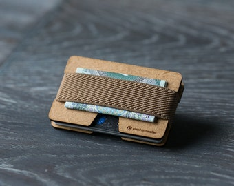 Wooden wallet, credit card wallet, women's and men's wallet, minimalist wallet, slim wallet, modern design wallet, N wallet