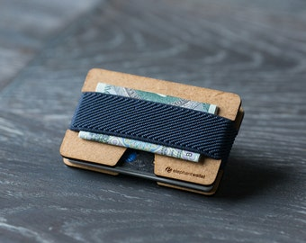 Slim wooden wallet, credit card wallet, men and women wallet, wood minimalist and slim wallet, N wallet, Elephant Wallet
