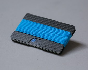 Carbon fiber wallet, credit card wallet, women and men wallet, minimalist and slim wallet, modern design, Elephant Wallet