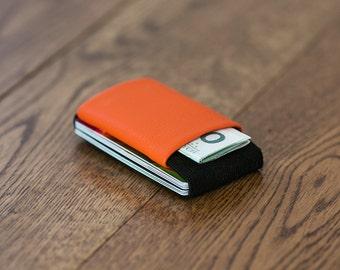 Minimalist leather wallet, men's and women's wallet, slim wallet, modern wallet, design wallet, LR wallet, Elephant Wallet