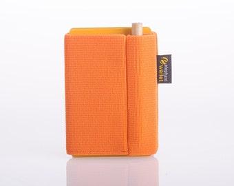 Wallet, orange wallet, credit card wallet, business wallet, thin wallet, handmade wallet, modern design wallet, P wallet, Elephant Wallet