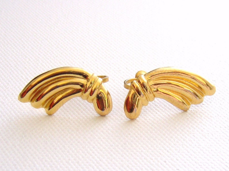 CORO  Vermeil earrings with screw backs from 1940s stamped image 0