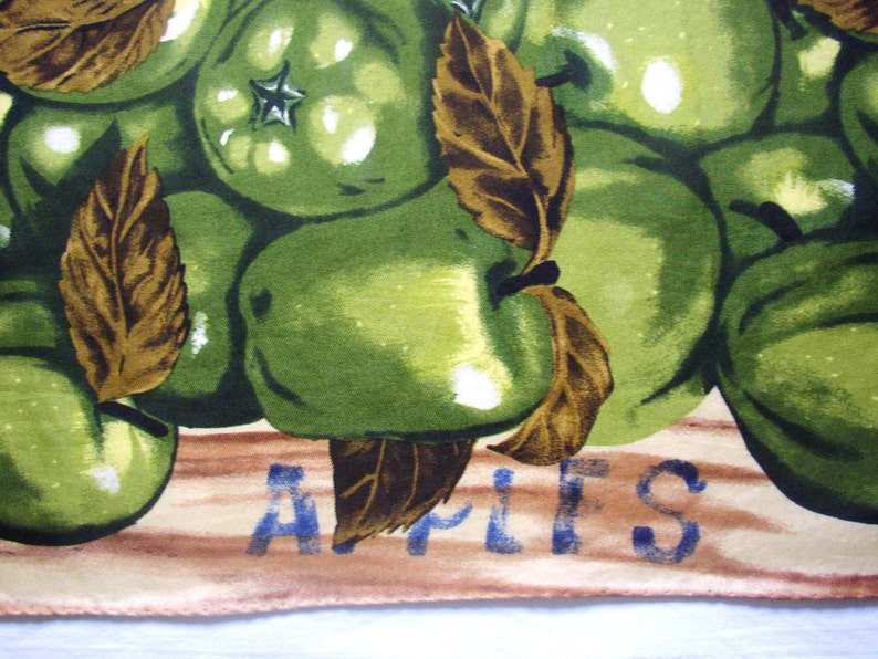 DANIEL HECHTER  French scarf printed with apples in green and image 0