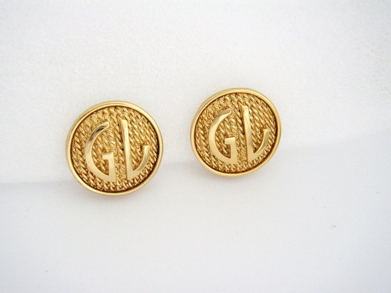 GUY LAROCHE  Round clip on earrings gilded metal with image 0