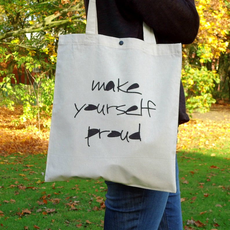 Jute Bag Make yourself Proud