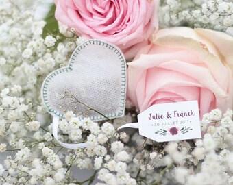 Wedding Favors Tea Bags -Heart Shaped- (50 pieces) -Green-