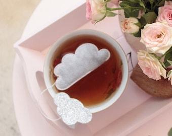 Tea Bags Cloud Shaped (5) Silver
