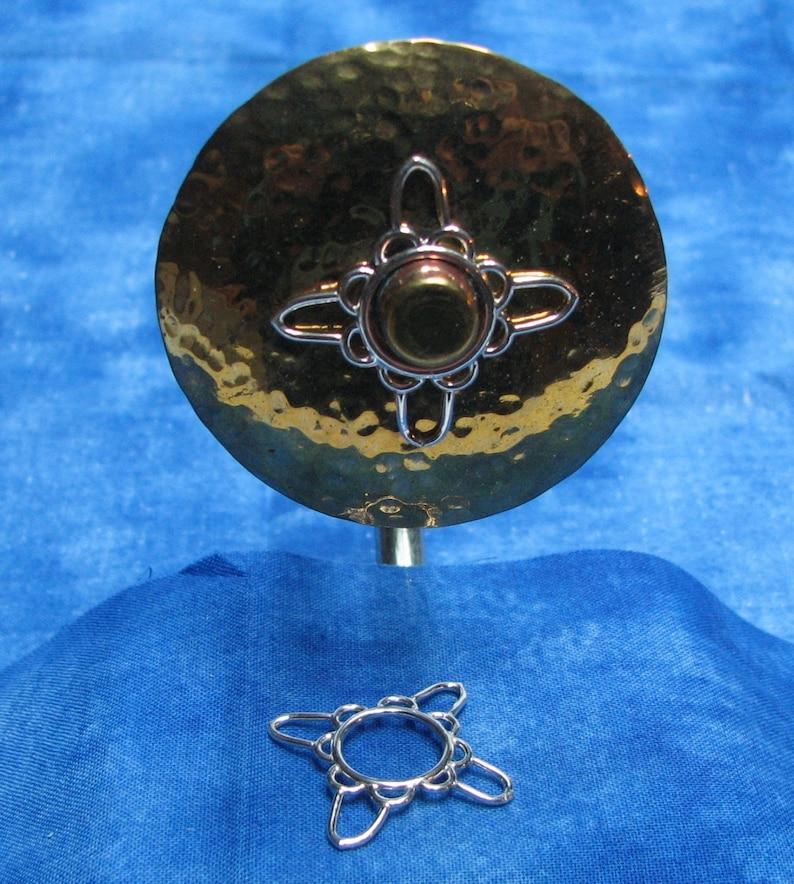 Pair of Four Point Star Nipple Shield \u2013 A handmade pair of non-pierced nipple rings.