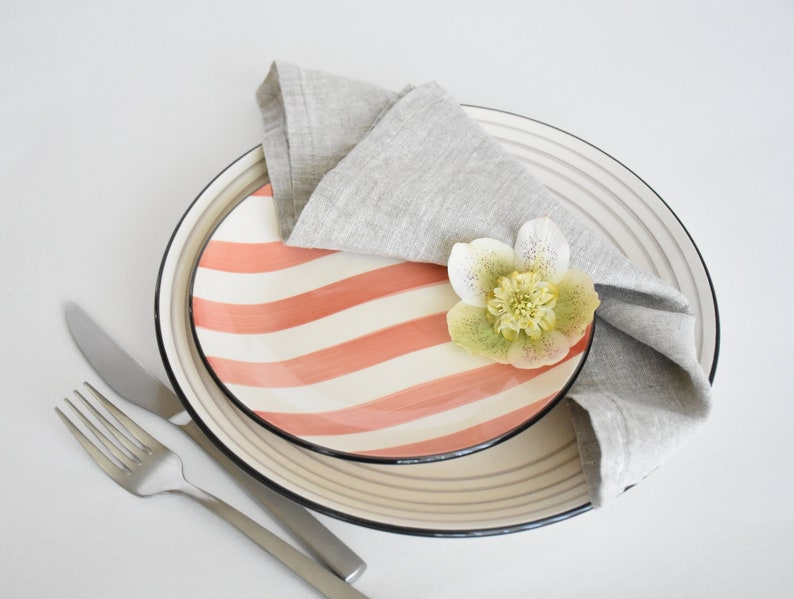 chic style napkins occasion table serving napkins Natural linen napkins soft napkins washed napkins custom  quantity custom colors
