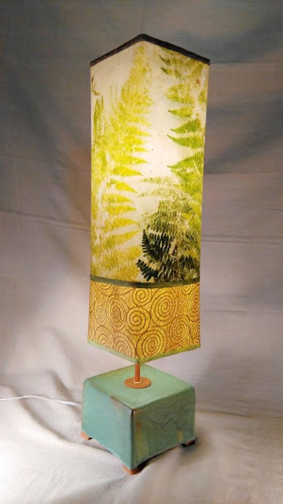 Colorful Lamp | Tall Lamp | Desk Lamp | Tall Table Lamp | Natural Lamp |  Unique Lamp | Lamp Shades | Paper Lamps | Decorative Green Lamp