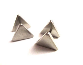 Triangular Fake plug silver  from 6mm to 12 mm