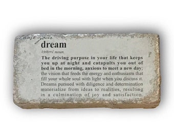 Chase Your Dream Painted Paver Garden Stone Doorstop Paperweight Rustic  Decor Mantle Art Office Decor Kids Room College