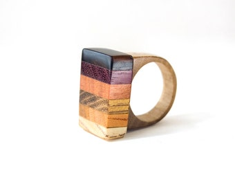 Wood ring, unique ring, nature ring, wooden rings for women, wooden wedding ring,