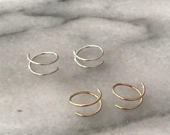 Spiral Mini Threaders  /// Earrings