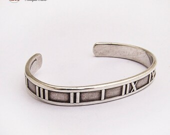 d0414b05b Authentic Tiffany and Co Atlas Cuff Bracelet Sterling Silver