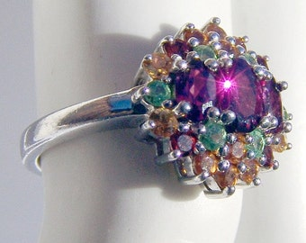 SaLe! sALe! Multistones Ring Sterling Silver Thailand