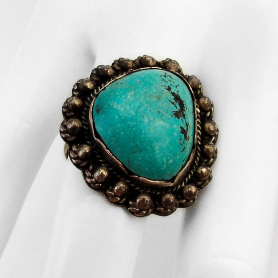Beatrice Kee Navajo Turquoise Ring Sterling Silver