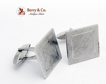 SaLe! sALe! Sterling Silver Square Cufflinks