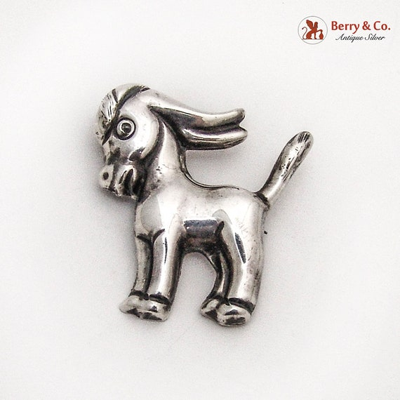 Renoir Donkey Brooch Handcrafted Sterling Silver