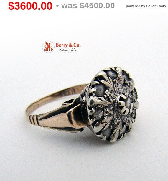 Antique 18th Century Diamond Ring - image 1