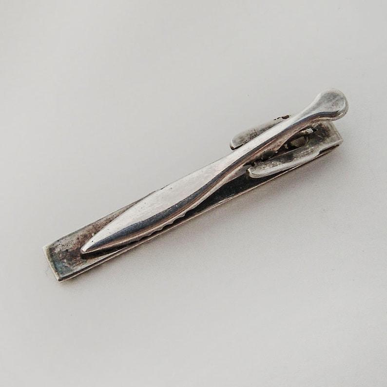 Textured Tie Bar Clip 830 Standard Silver Sweden 1919