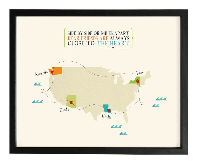Long distance map  Friendship Map  Relationship Map  image 0
