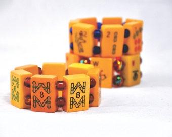 1940's bakelite mahjong bracelets
