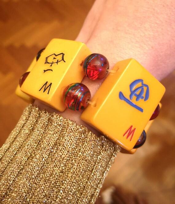1940's bakelite mahjong bracelet.