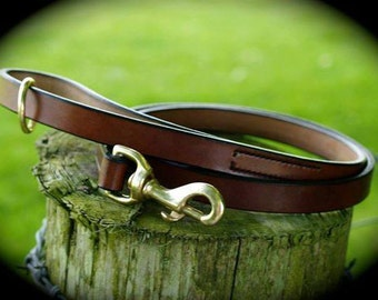 English Bridle Leather Dog Lead