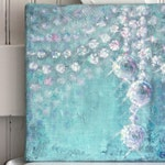 "Chandelier Painting, ""Sparkle"", 10""x10"",Giclee Print,Chandelier, Fine Art, Original Art, Baby Nursery, Shabby Chic"