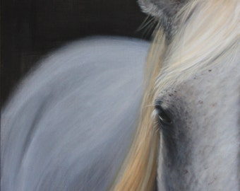 """horse painting,horse art,equestrian painting,equestrian art,""""Trevor in the Moonlight"""",giclee print,farmhouse,rustic,"""