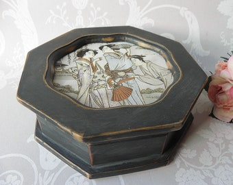 CUSTOMISABLE ORDER - SMALL Shabby Chic Vintage Jewellery Box