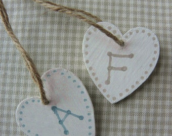 Personalised Hanging Wooden Heart Accessory for Custom Jewellery Boxes