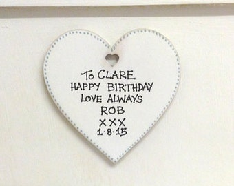 Personalised Large Wooden Heart Accessory for Custom Jewellery Boxes