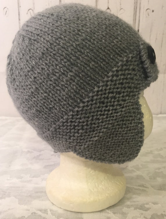 Hand knitted baby boys aviator trapper hat  abe6042d931e