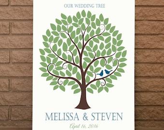 Wedding Guest Book, Wedding Signature Tree, Wedding Guestbook, Wedding Guest Tree, Wedding Guest Signature Tree, Up To 120 Signatures, 24x36