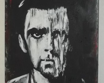 peter gabriel..genesis ,24 x 18 ins canvas painting,,ready to hang ,great gift idea